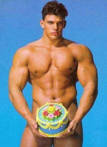 Carte anniversaire gateau surprise homme